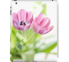 Pink Tulips Drenched In Light iPad Case/Skin