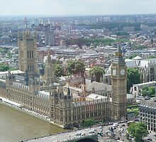 Palace of Westminster London Eye view by santoshputhran