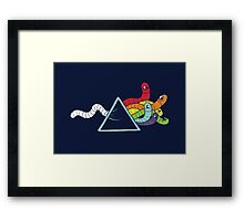 Dark side of the worm Framed Print
