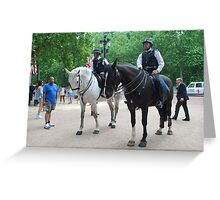 Mounted Police during Change of guards Greeting Card