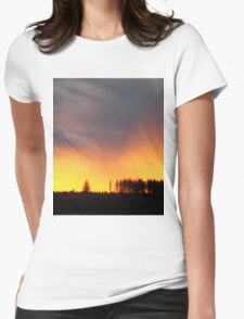 Minera Sunset Womens Fitted T-Shirt