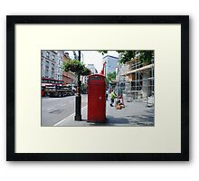 Iconic - Red Telephone Box London Framed Print
