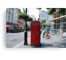 Iconic - Red Telephone Box London Canvas Print
