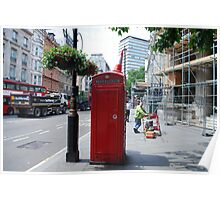 Iconic - Red Telephone Box London Poster