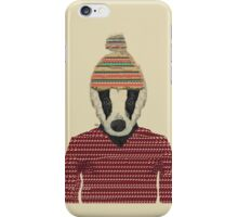 Seb the badger  iPhone Case/Skin