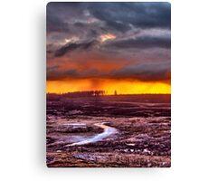 Minera Sunset 3 Canvas Print