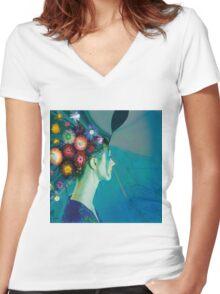 Fleur 2 Women's Fitted V-Neck T-Shirt