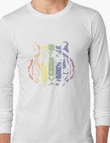Tiger Color Stripes Long Sleeve T-Shirt