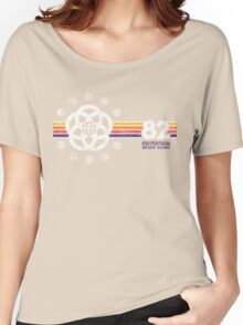 EPCOT Center Vintage Style Distressed Pavilion Logos  Women's Relaxed Fit T-Shirt