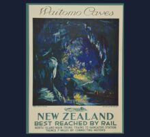 Vintage poster - Waitomo Caves One Piece - Long Sleeve