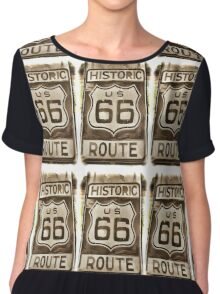 Historic Route 66  Chiffon Top