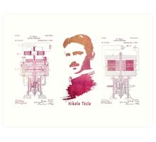 Nikola Tesla - Apparatus for aerial transportation Art Print