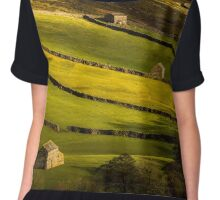 Swaledale Barns - Yorkshire Dales Chiffon Top