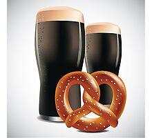 Beer and pretzels Photographic Print