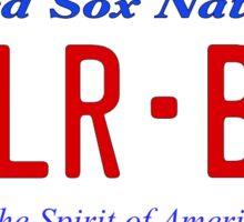 Red Sox Fan License Plate KILR BBB Sticker