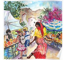 Wednesday Market in Mojacar Pueblo Poster