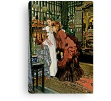 Young Ladies Look at Japanese Art Canvas Print