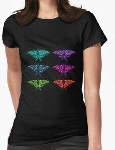 Technicolor Butterfly Collection Womens Fitted T-Shirt