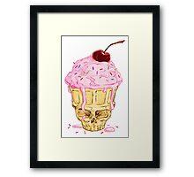 Skullcone Icecreamforbrains Framed Print