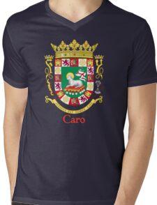 Caro Shield of Puerto Rico Mens V-Neck T-Shirt