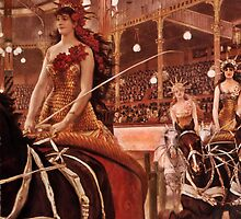 Riding in the Circus by dianegaddis