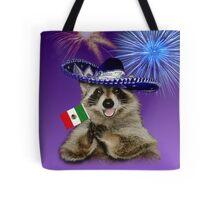 Cinco de Mayo Raccoon Tote Bag