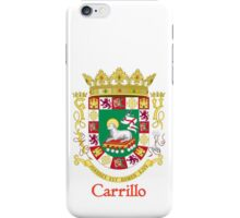 Carrillo Shield of Puerto Rico iPhone Case/Skin
