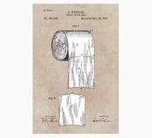 Toilet Paper patent art 1891 Wheeler Kids Tee