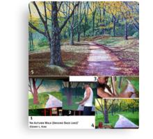 The Painting Process: 'An Autumn Walk (Around Bass Lake)' Canvas Print