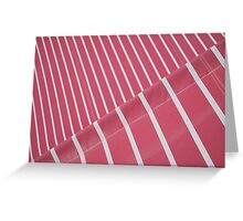 Red Parasol Abstract Greeting Card