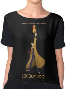 Preserve the Space-Time Continuum: The Doctor in London 2012 Chiffon Top
