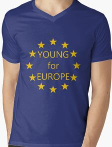 Young for Europe Mens V-Neck T-Shirt