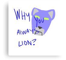 Blue Lion: Voltron Legendary Defender Canvas Print