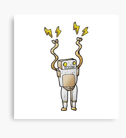 Excited Robot Canvas Print