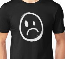 Content with KAOS unhappy face symbol Unisex T-Shirt