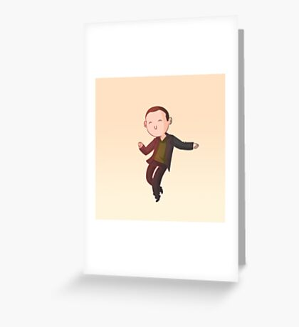 The Doctor Dances - 9th Doctor Greeting Card