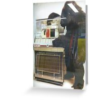 Jukebox in an advertisement Greeting Card