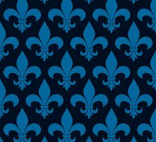 Fleur de lis French Pattern Parisian Design by doodlefly