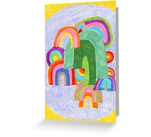 Rainbow Pile-up Greeting Card