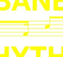 Habanera rhythm yellow Sticker