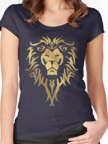 LION OF STORMWIND Women's Fitted Scoop T-Shirt