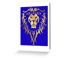 LION OF STORMWIND Greeting Card