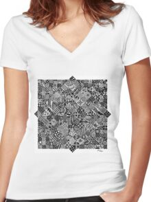 Passion and Frustration  Women's Fitted V-Neck T-Shirt