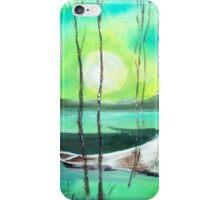 White Boat iPhone Case/Skin