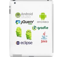 android programming lenguage sticker set iPad Case/Skin