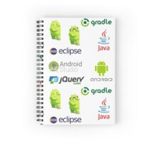 android programming lenguage sticker set Spiral Notebook