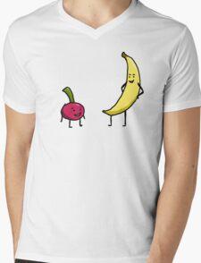 Cherry and Banana Mens V-Neck T-Shirt