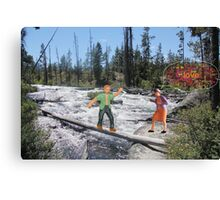 Ed experienced the serendipity of timing  when he ran across a babbling Brooke. Canvas Print