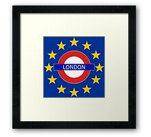 London Shall Remain - (with funky over-sized stars) Framed Print