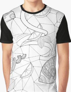 Pattern with lemons and leaves Graphic T-Shirt